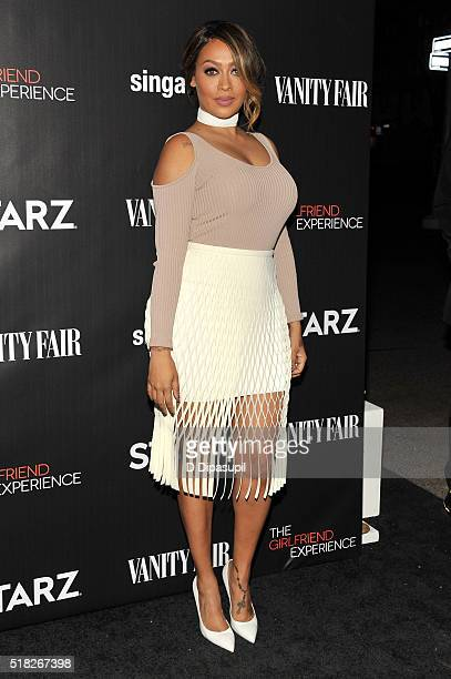 La La Anthony attends the New York premiere of 'The Girlfriend Experience' at The Paris Theatre on March 30 2016 in New York City