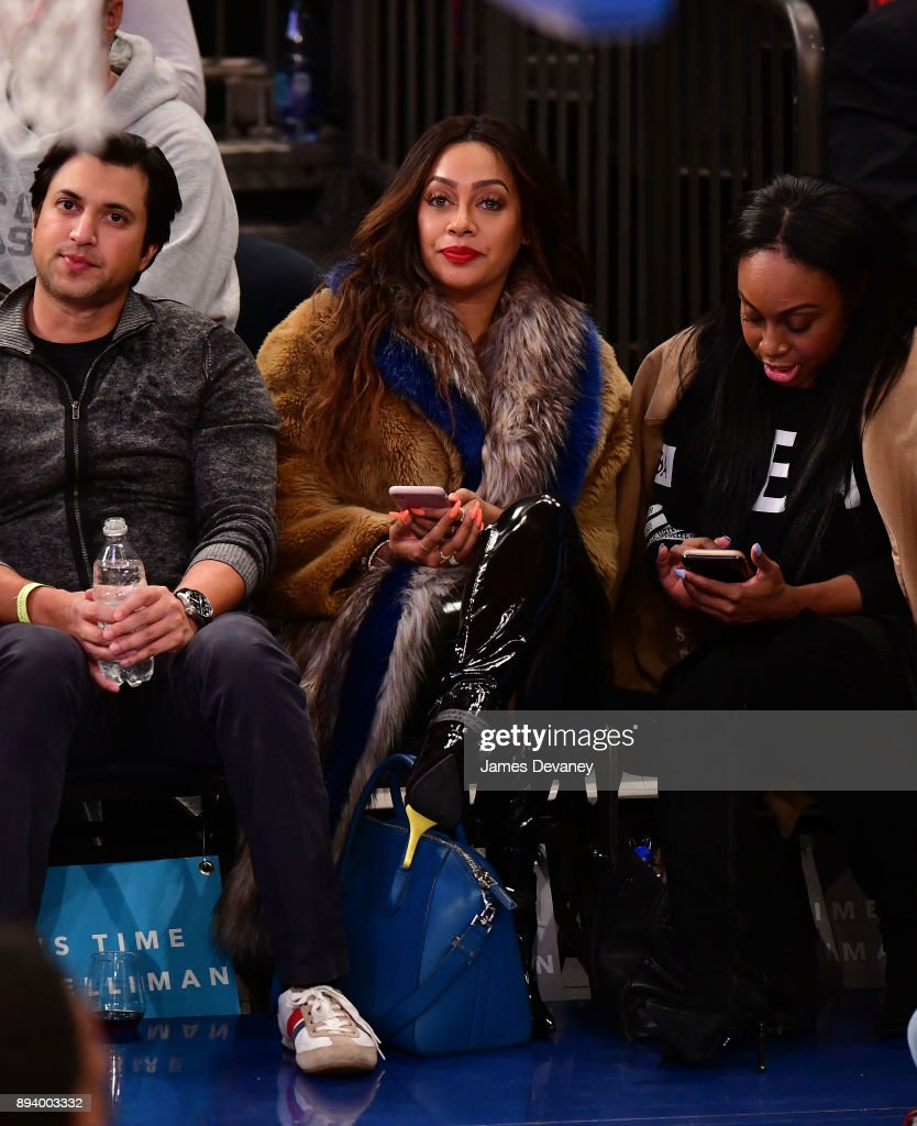 La La Anthony attends the Oklahoma City Thunder Vs New York Knicks game at Madison Square Garden on December 16, 2017 in New York City.