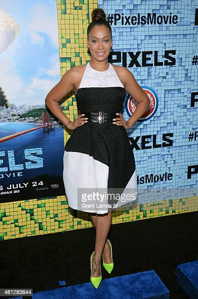 La La Anthony attends the 'Pixels' New York Premiere at Regal EWalk on July 18 2015 in New York City