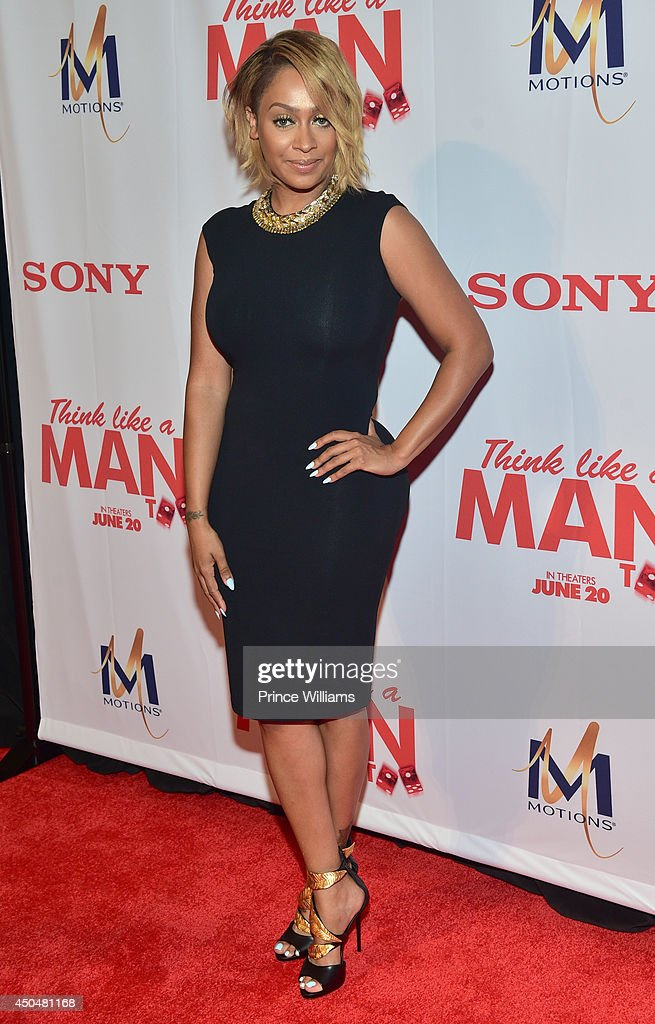 La La Anthony attends the 'Think Like A Man Too' premiere at Regal Cinemas Atlantic Station Stadium 16 on June 11, 2014 in Atlanta, Georgia.