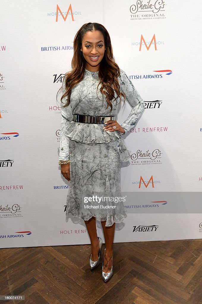 <a gi-track='captionPersonalityLinkClicked' href=/galleries/search?phrase=La+La+Anthony&family=editorial&specificpeople=209433 ng-click='$event.stopPropagation()'>La La Anthony</a> attends Variety Studio Presented by Moroccanoil at Holt Renfrew during the 2013 Toronto International Film Festival on September 8, 2013 in Toronto, Canada.