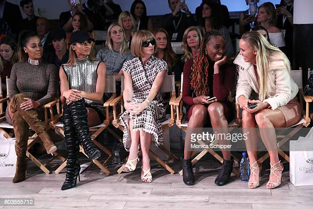 La La Anthony Ciara Anna Wintour Venus Williams and Caroline Wozniacki attend the Serena Williams Signature Statement Collection By HSN during...