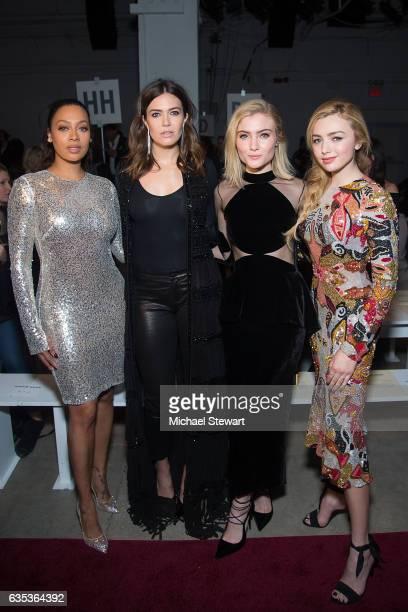 La La Anthony Mandy Moore Skylar Samuels and Peyton List attend the Naeem Khan fashion show during February 2017 New York Fashion Week at Gallery 2...