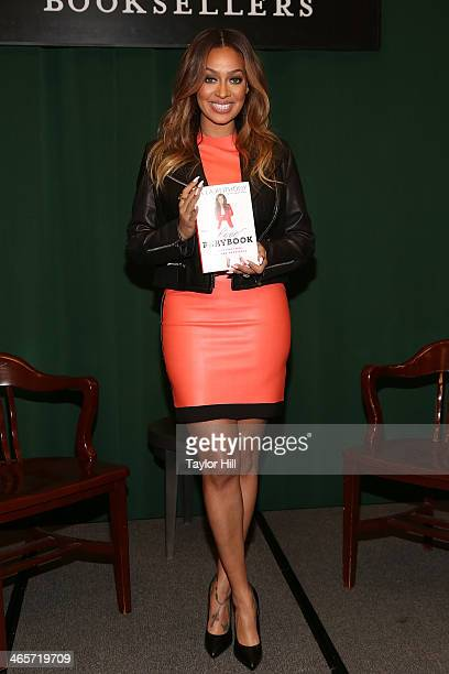 La La Anthony promotes her book 'The Love Playbook Rules For Love Sex and Happiness' at Barnes Noble Tribeca on January 28 2014 in New York City