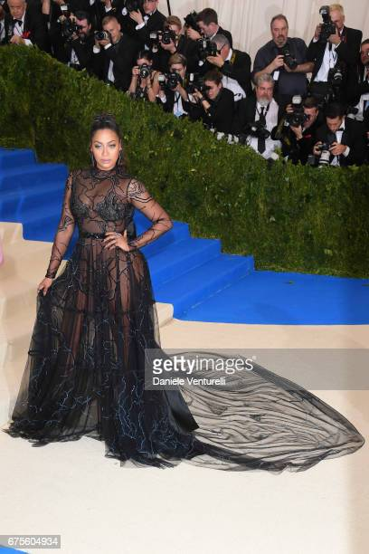 La La attends 'Rei Kawakubo/Comme des Garcons Art Of The InBetween' Costume Institute Gala Arrivals at Metropolitan Museum of Art on May 1 2017 in...