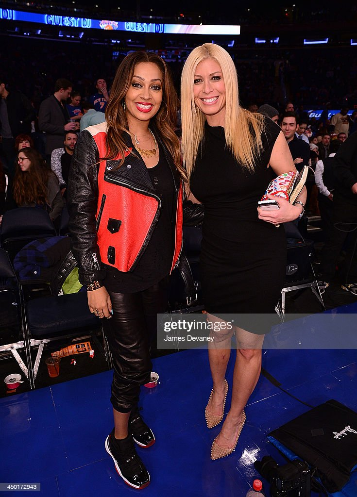 La La Vazquez and Jill Martin attend the Atlanta Hawks vs New York Knicks game at Madison Square Garden on November 16, 2013 in New York City.