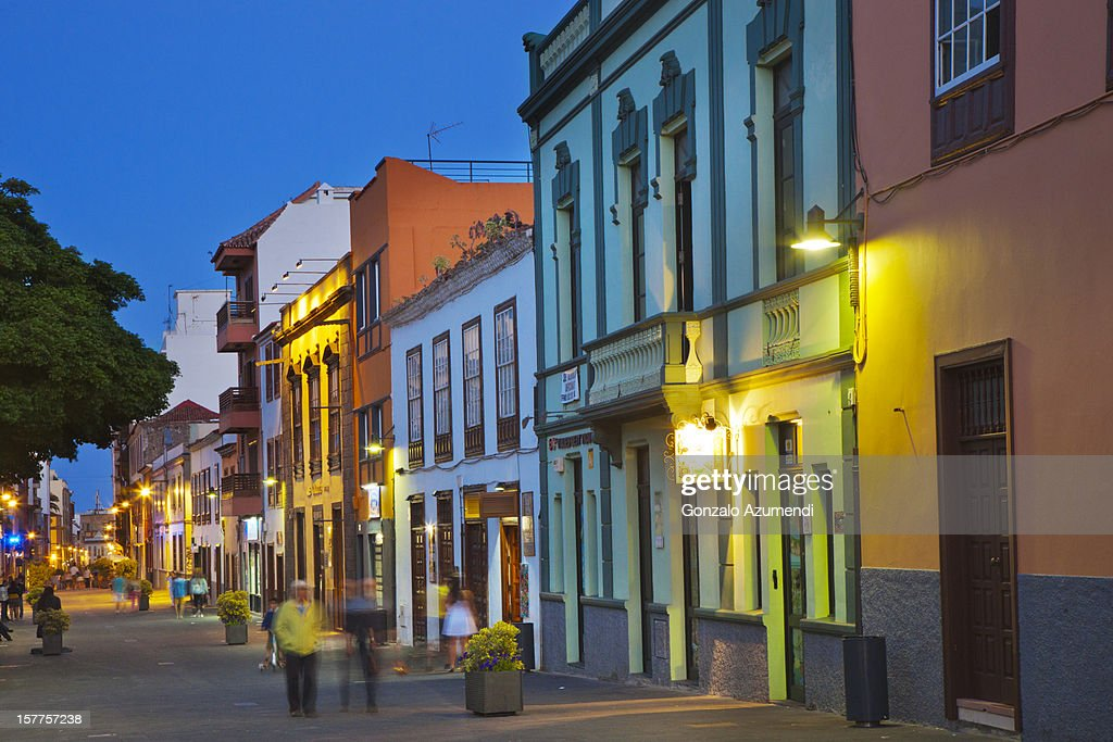 La Laguna colonial city. : Stock Photo