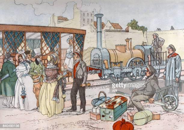 La ligne de chemin de fer entre entre Paris et Le Pecq en 1837 France