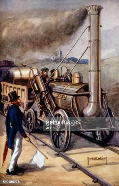 La locomotive à vapeur 'Fusée de Stephenson' au XIXè siècle