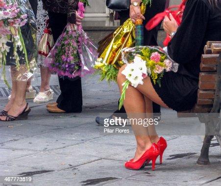 La ofrenda floral : Foto de stock