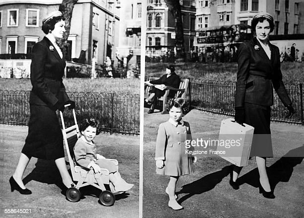 La 'Pakopram' poussette portative a ete presentee au Salon de l'Industrie britannique transportable comme une valise par la maman et utilisable comme...