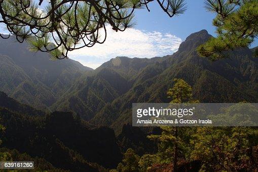 La Palma Island, Canary islands-Landscape inside Caldera de Taburiente National Park