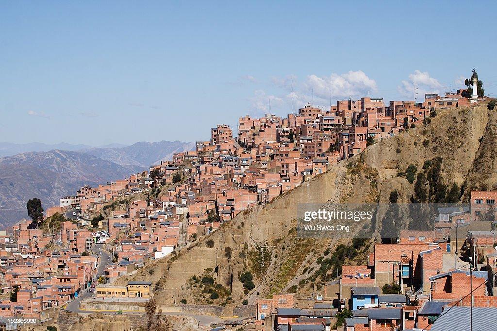 La Paz from El Alto : Stock Photo