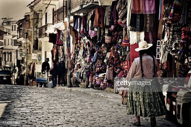 La Paz street, Bolivia