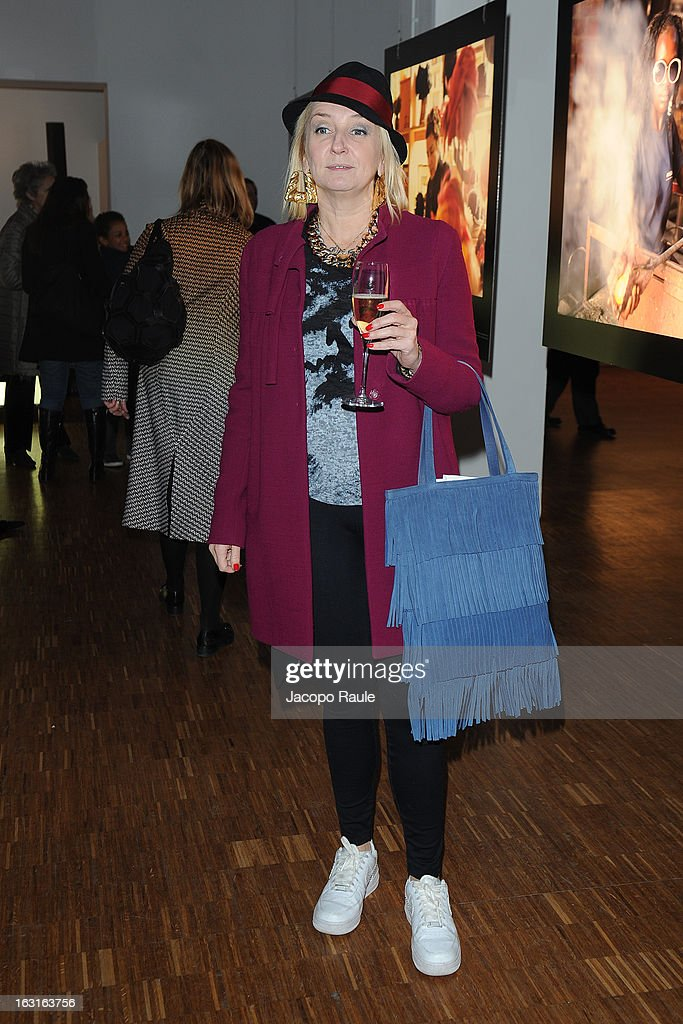 La Pina attends Marcolin Hosts 'Sguardi d'Atelier' Exhibition on March 5, 2013 in Milan, Italy.