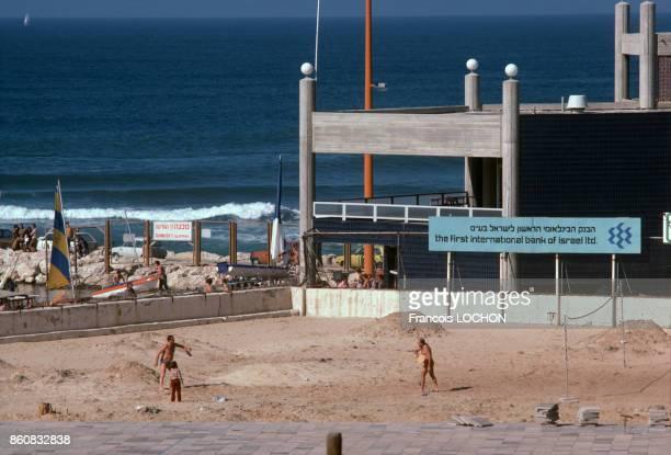 La plage à Tel Aviv juin 1977 Israël