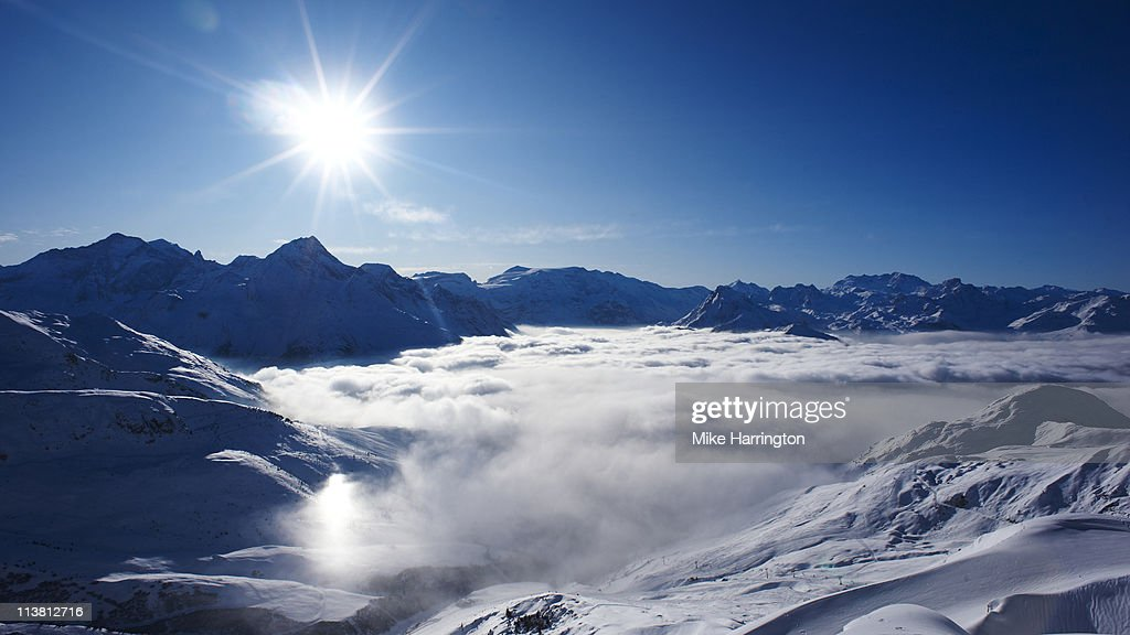 La Plagne Mountains : Stock Photo