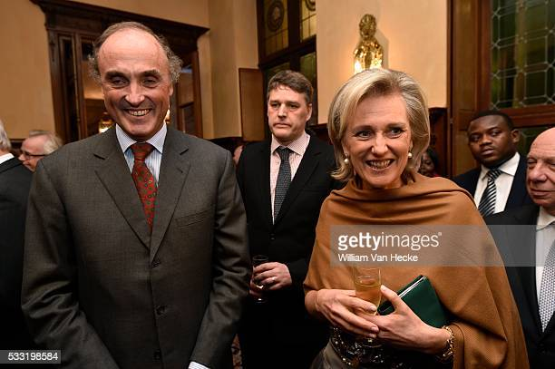 La Princesse Astrid et le Prince Lorenz assistent à une réception à l'occasion de la cessation d'activités de Roll Back Malaria La Princesse Astrid...