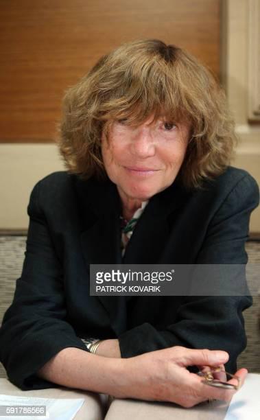 La productrice MarieFrance Brière pose le 01 juillet 2008 à Paris Mme Brière est à l'initiative avec le producteur Dominique Besnehard du premier...