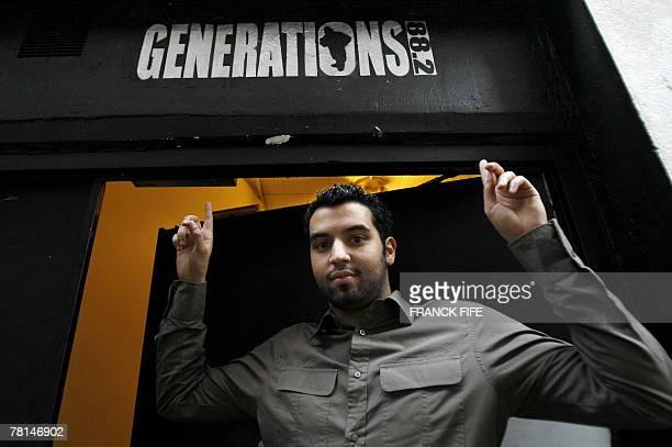 'La radio Gnrations 882 se veut un 'lien social' dans les quartiers' Yassine Belattar animateur de la radio 'Gnrations 882' pose le 29 novembre 2007...