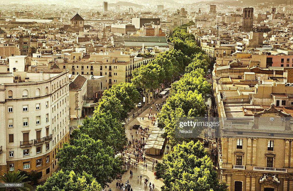 La Rambla Barcelona : Stock Photo