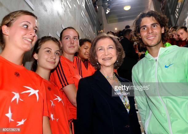 La reine Sofia d Espagne et Rafael NADAL Finale Simple Messieurs Roland Garros 2010