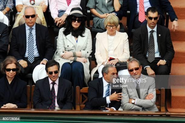 La Reine SOFIA d Espagne / Isabelle ADJANI / Francois FILLON / Jean GACHASSIN / Bertrand DELANOE Finale Simple Messieurs Roland Garros 2010