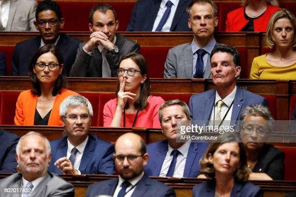 La Republique en Marche member of Parliament Amelie de Montchalin La Republique en Marche member of Parliament Sandrine Morch and La Republique en...