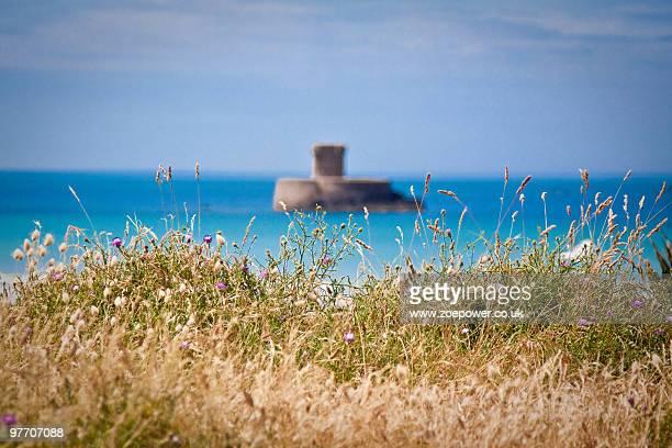 La Rocco Tower through the sea grasses
