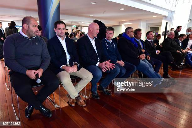 La Rochelle coach Patrice Collazo Clermont coach Franck Azema Montpellier coach Vern Cotter Racing 92 skills and kicking coach Ronan OGara Castres...