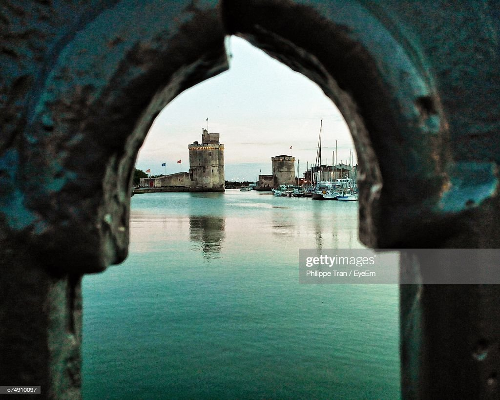 La Rochelle Seen Through Window Of Historic Building