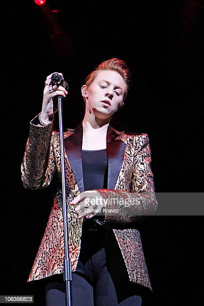 La Roux performs and attends Perez Hilton's 'One Night in Jersey' at House of Blues on October 29 2010 in Atlantic City New Jersey