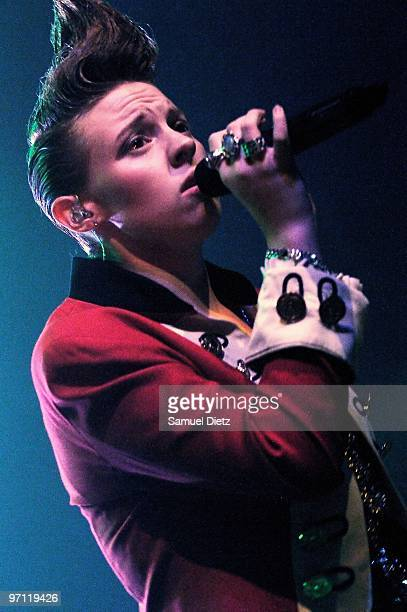 La Roux performs at Le Bataclan on February 26 2010 in Paris France