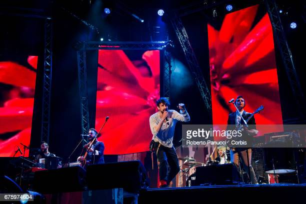 La Rua performs in concert at 1st Of May Concert on May 01 2017 in Rome Italy