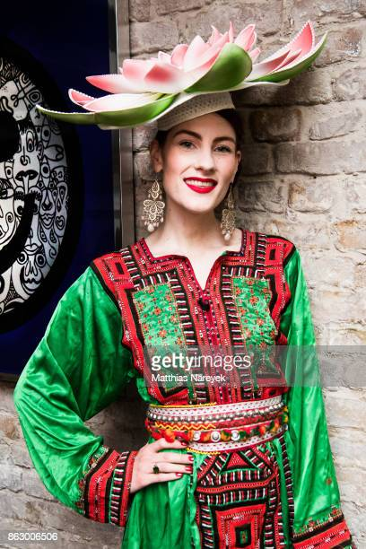 La Rubinia during Romulo's 'Farbenspiel' exhibition opening at Hotel Provocateur on October 18 2017 in Berlin Germany