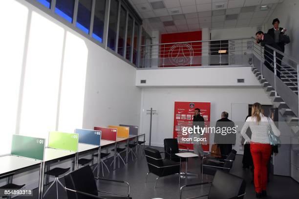 La Salle de presse Inauguration du Nouveau Centre d'entrainement du PSG Saint Germain en Laye Camp des Loges
