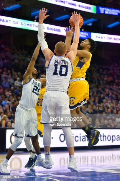 La Salle Explorers guard Pookie Powell fires his jumper during the college basketball game between the La Salle Explorers and the Villanova Wildcats...