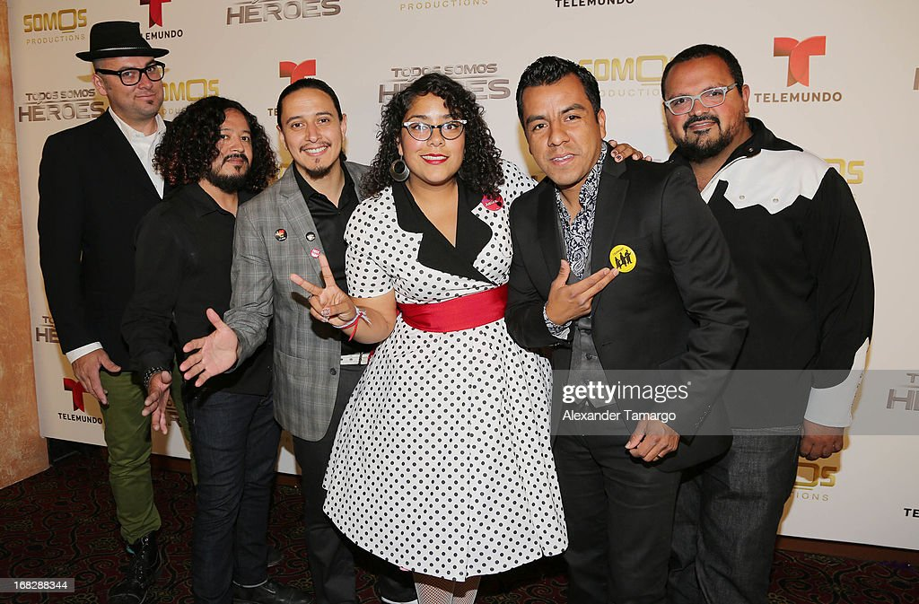La Santa Cecilia attends Telemundo's Todos Somos Heroes Gala on May 7, 2013 in Miami, Florida.