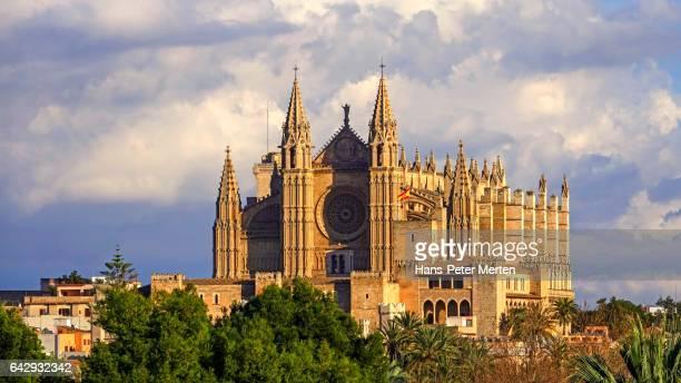 La Seu Cathedral with Royal Palace, Palma de Mallorca, Majorca, Balearic Islands, Spain