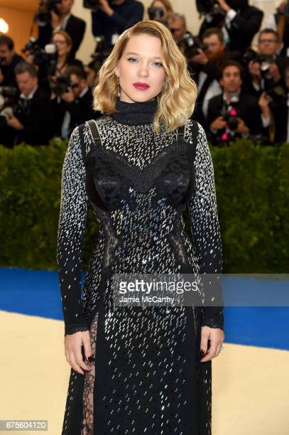 Léa Seydoux attends the 'Rei Kawakubo/Comme des Garcons Art Of The InBetween' Costume Institute Gala at Metropolitan Museum of Art on May 1 2017 in...
