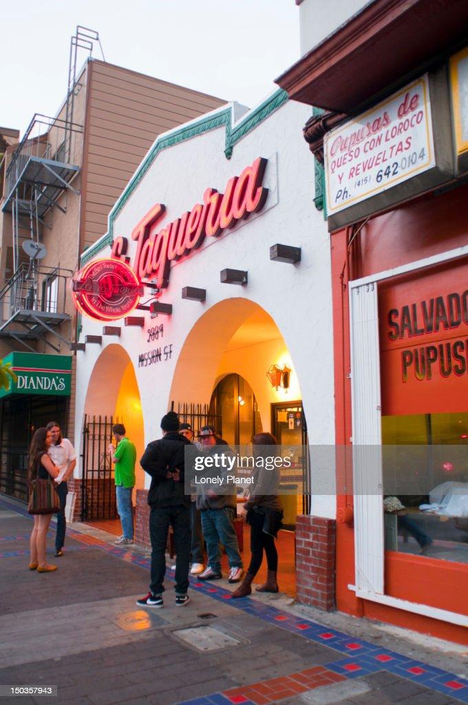 La Taqueria restaurant in the Mission District.