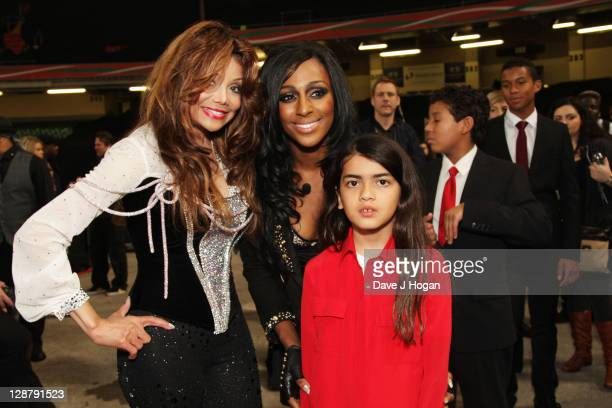 La Toya Jackson Alexandra Burke and Blanket Jackson backstage at the 'Michael Forever' concert to remember the late Michael Jackson at The Millenium...