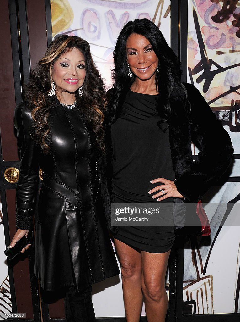 La Toya Jackson and <a gi-track='captionPersonalityLinkClicked' href=/galleries/search?phrase=Danielle+Staub&family=editorial&specificpeople=3564587 ng-click='$event.stopPropagation()'>Danielle Staub</a> attend Henri Bendel holiday window unveiling 2012 at Henri Bendel on November 15, 2012 in New York City.