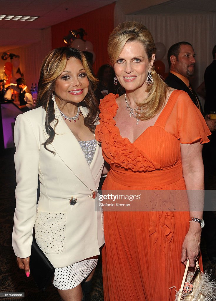La Toya Jackson and host <a gi-track='captionPersonalityLinkClicked' href=/galleries/search?phrase=Nancy+Davis+-+Philanthropist&family=editorial&specificpeople=216112 ng-click='$event.stopPropagation()'>Nancy Davis</a> attend the 20th Annual Race To Erase MS Gala 'Love To Erase MS' at the Hyatt Regency Century Plaza on May 3, 2013 in Century City, California.