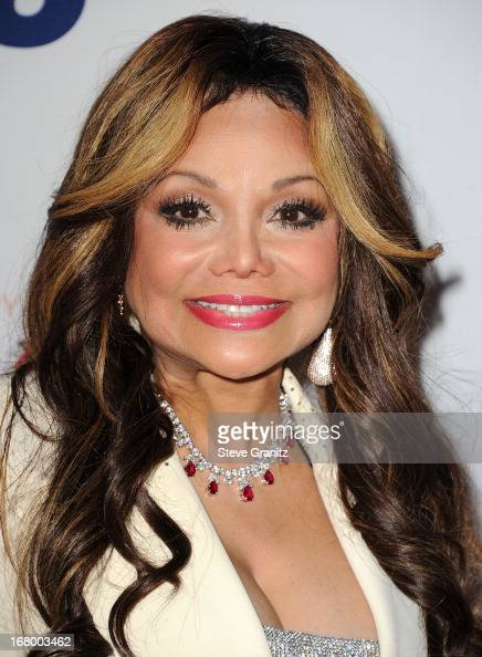 La Toya Jackson arrives at the 20th Annual Race To Erase MS Gala 'Love To Erase MS' at the Hyatt Regency Century Plaza on May 3 2013 in Century City...