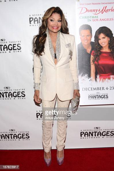 La Toya Jackson arrives at the 'Donny Marie Christmas In Los Angeles' Opening Night Performance at the Pantages Theatre on December 4 2012 in...