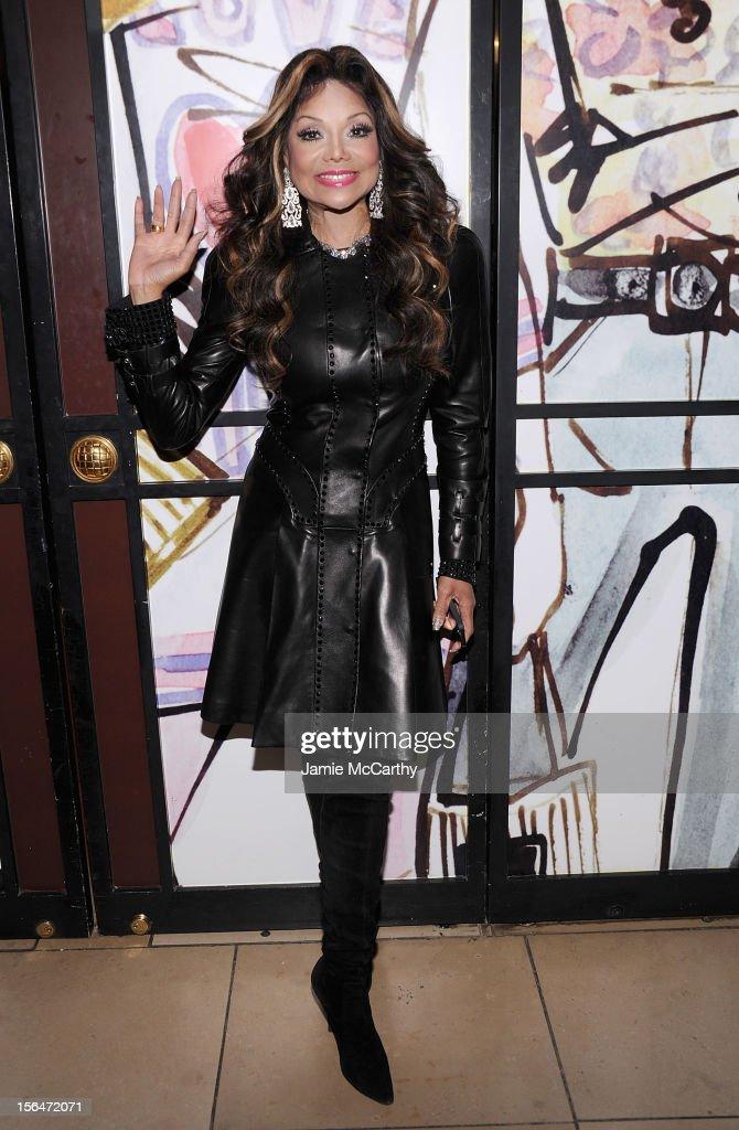 La Toya Jackson attends Henri Bendel holiday window unveiling 2012 at Henri Bendel on November 15, 2012 in New York City.