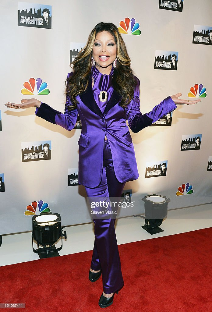 La Toya Jackson attends the 'Celebrity Apprentice All Stars' Season 13 Press Conference at Jack Studios on October 12, 2012 in New York City.