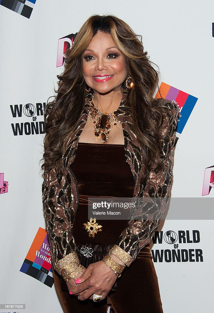La Toya Jackson attends the Finale, Reunion & Coronation Taping Of Logo TV's 'RuPaul's Drag Race' Season 5 on May 1, 2013 in North Hollywood, California.
