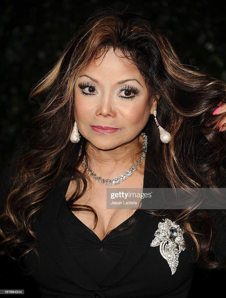 La Toya Jackson attends the Topshop Topman LA flagship store opening party at Cecconi's Restaurant on February 13, 2013 in Los Angeles, California.